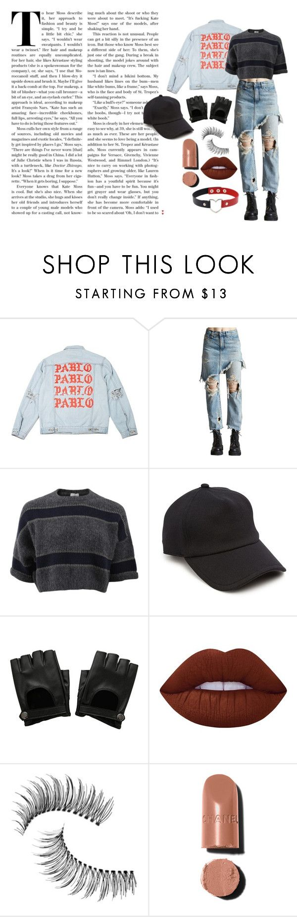 grunge by fandom-trash-stan on Polyvore featuring Brunello Cucinelli, R13, rag & bone, Trish McEvoy, Chanel and Lime Crime