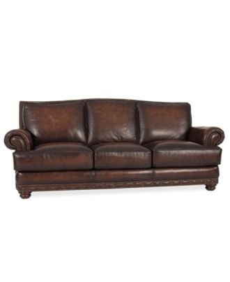 bryce leather sofa furniture macy 39 s updated