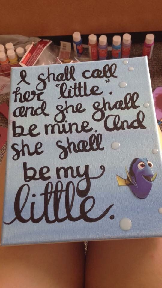 Sorority little finding nemo dory canvas art