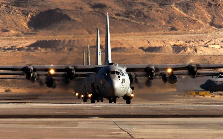 Lockheed C-130-Hercules Ready to Take Off