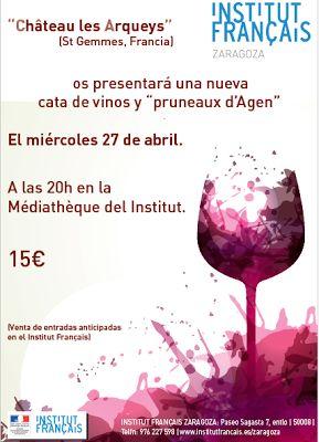 GASTRONOMÍA EN ZARAGOZA: Cata de vinos de Burdeos en el Instituto Francés d...