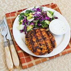 grilled fresh salmon burgers with caper mayonnaise salmon recipes ...