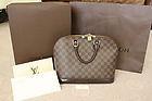 Louis Vuitton Damier Alma Tote bag with original receipt & box