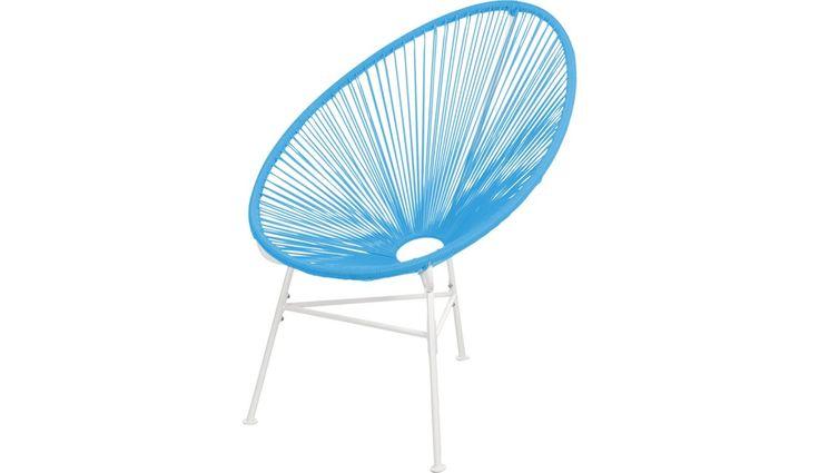 SESSEL Blau, Weiß - Sessel - Polstermöbel - Wohnzimmer - Produkte