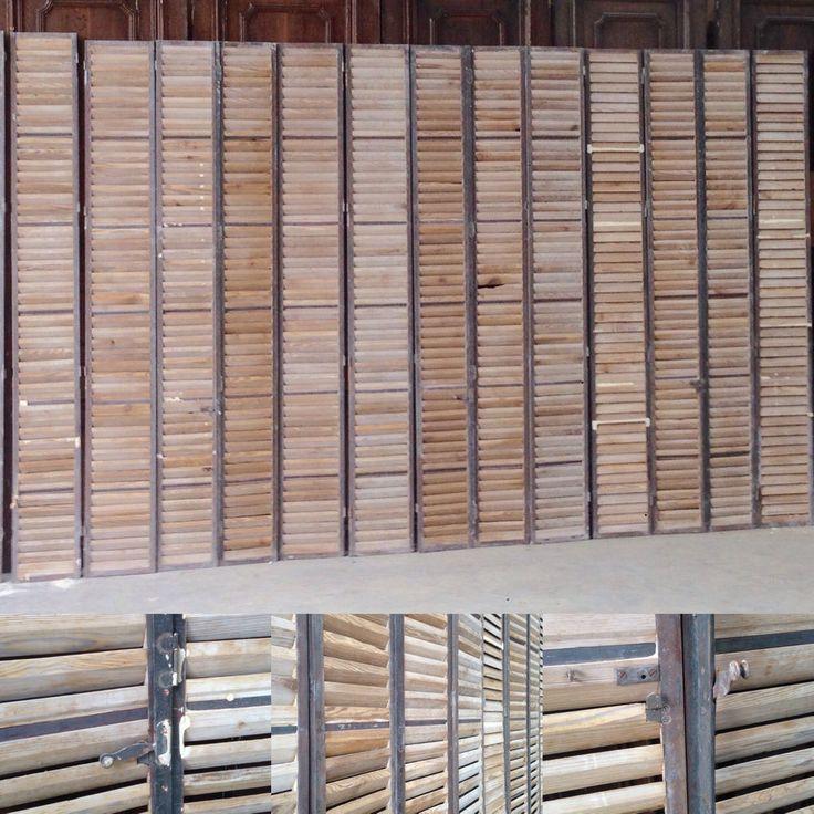 volets quatre éléments en portefeuille entourage fer lame en chêne . XX siècle. | eBay