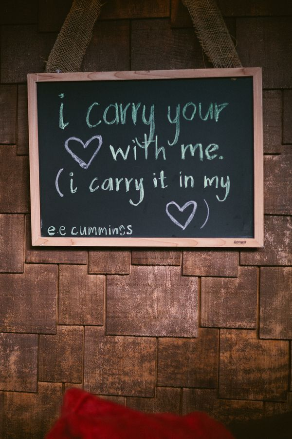 EE Cummings I carry your heart with me sign