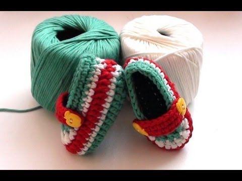 ▶ How to Crochet Toffee Apple Baby Booties - Crochet Baby Booties - YouTube