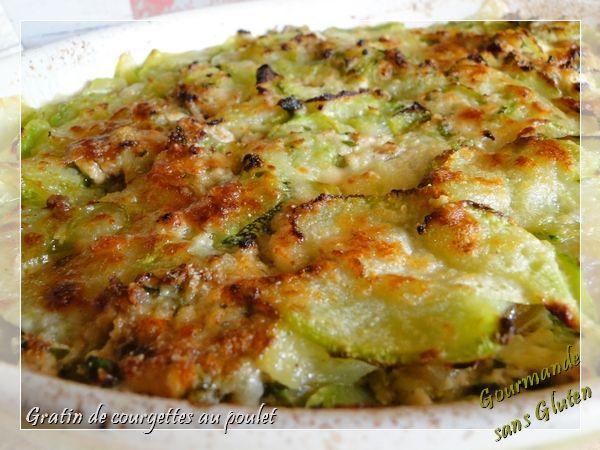 Gourmande sans gluten: Gratin de courgettes au poulet sans gluten