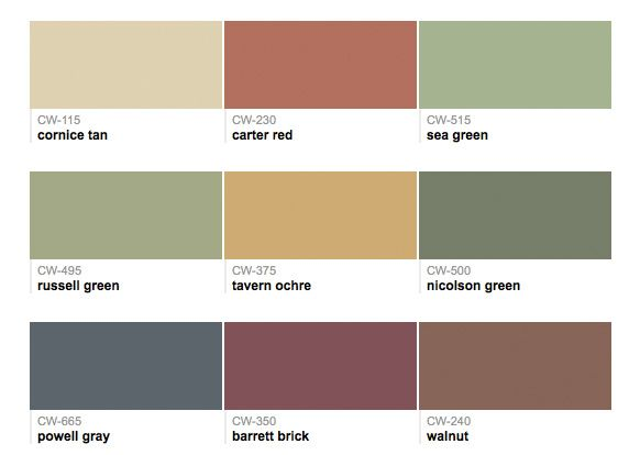 Paints from Hirshfield's: Williamsburg Colors Benjamin Moore Paints