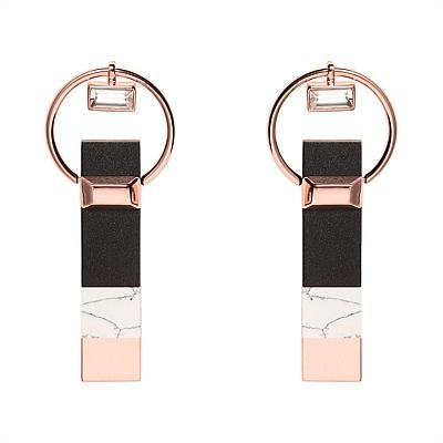 #mimco Montage Drop Ear in Rose Gold