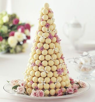 White Chocolate Truffle Cake (made with LINDOR truffles). The only wedding cake I would ever approve.