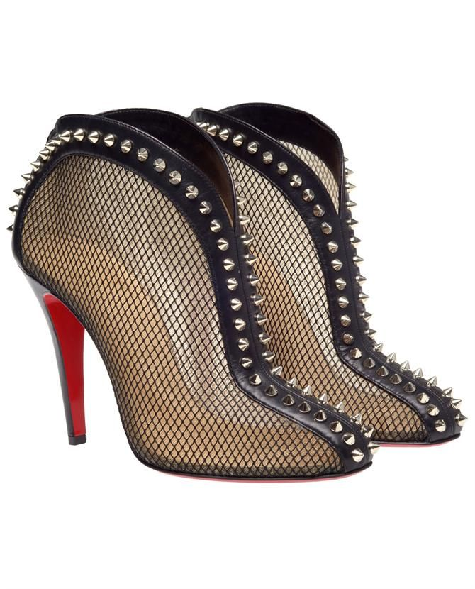 Mesh spiked Louboutins - delicate and tough