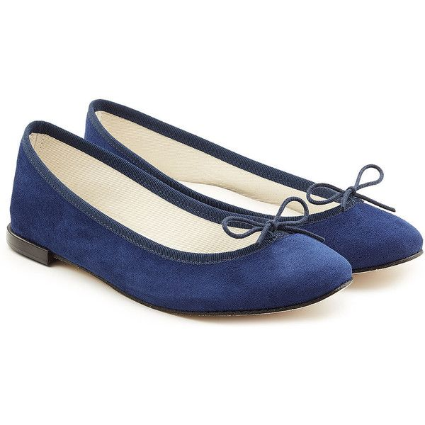 Repetto Cendrillon Suede Ballerinas (€175) ❤ liked on Polyvore featuring shoes, flats, blue, blue ballet flats, suede ballerina flats, blue ballet shoes, blue shoes and blue suede shoes