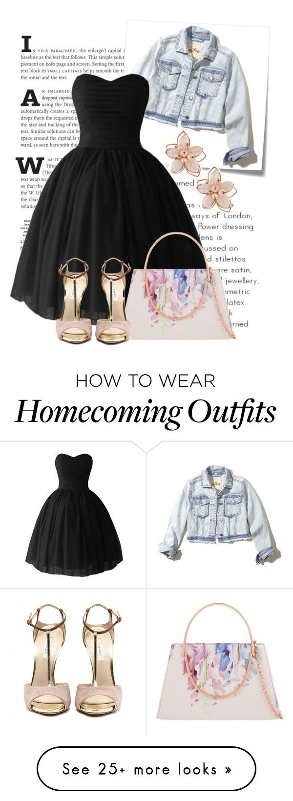 """""""Black Dress"""" by isis-anubis5 on Polyvore featuring Post-It, NAKAMOL, Hollister Co. and Ted Baker"""
