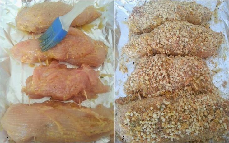 Pechuga de pollo a la miel y mostaza con costra de almendras | Cocinar en casa es facilisimo.com