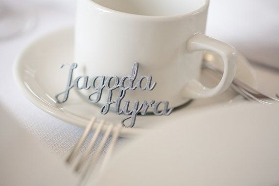 3D printed wedding place cards Escort Card Wedding Name by 3Dpoint