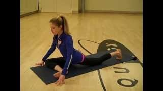 8 Minute after workout stretching video. Free online flexibility routine., via YouTube.