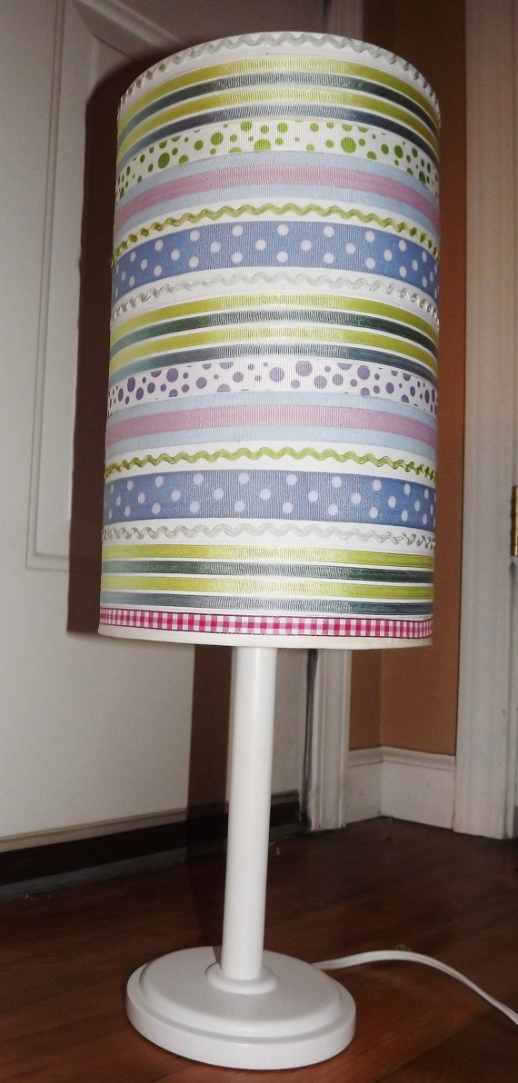 Southern Baby Nursery Ribbon Lamp via Etsy
