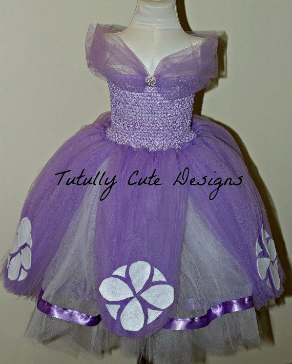 Sofia The First Dress Princess Tutu By Tutullycutedesigns Crafts Diy Pinterest Birthdays Flower And Wraps