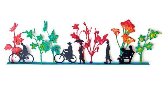 SALE Hand Painted Indoor Outdoor Sculpture by MetalArtGalleria, $2200.00 great for paper art design too