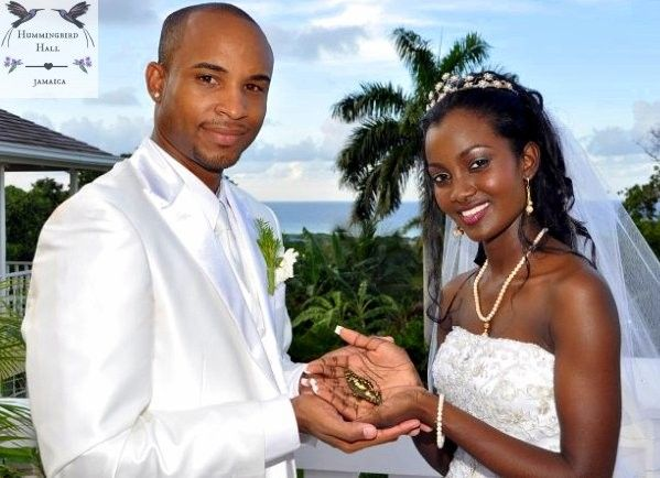 Wedding Portrait Following A Tropical Butterfly Release At All Inclusive Destination Venue Hummingbird Hall Jamaica