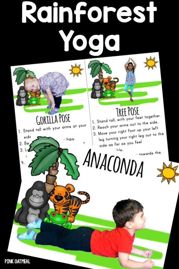 Kids yoga cards with a Rainforest theme.  I love how cute they are and how real kids are in the yoga poses.  Perfect for my summer Olympics unit!