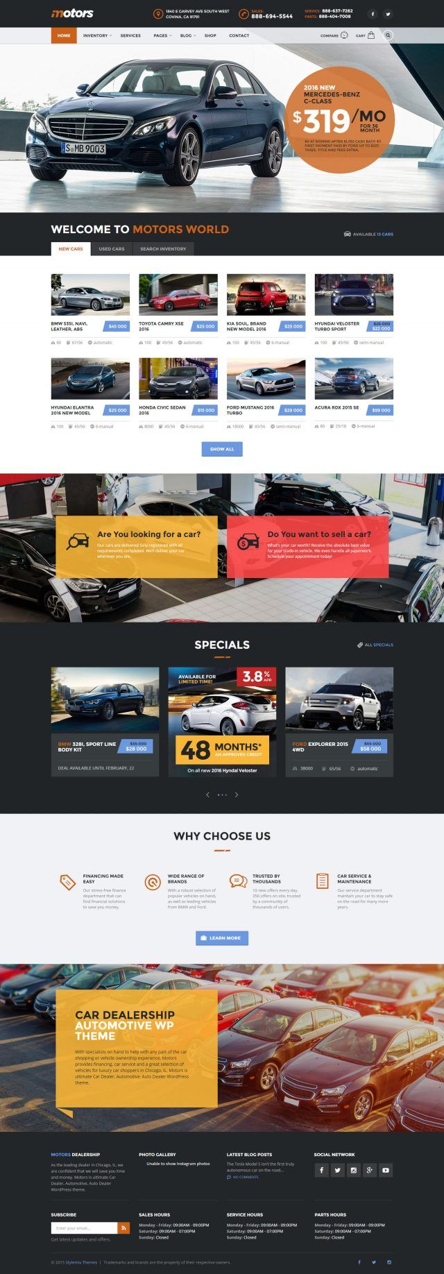 Motors, ein WordPress Premium-Theme für die Automotive-Branche | DR. WEB