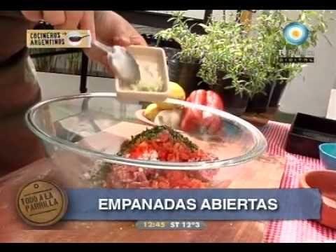 Empanadas abiertas