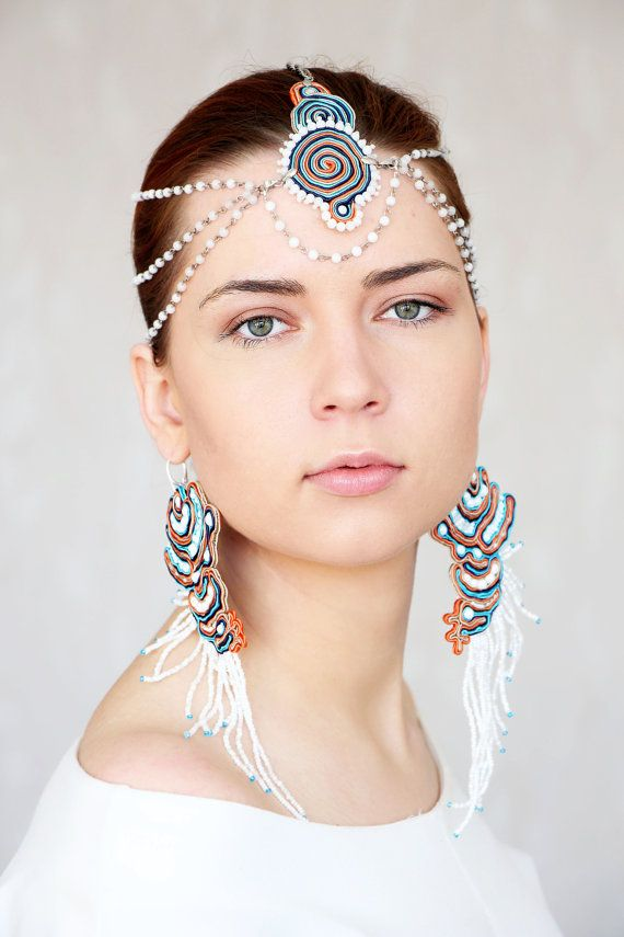 Hey, I found this really awesome Etsy listing at https://www.etsy.com/au/listing/225102343/summer-jewelry-set-white-colorful-hair