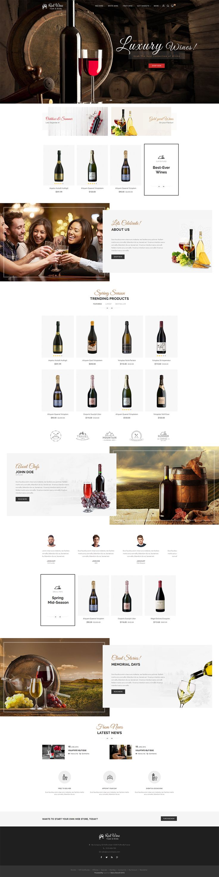 modern opencart multi purpose responsive theme - Multi Restaurant Design