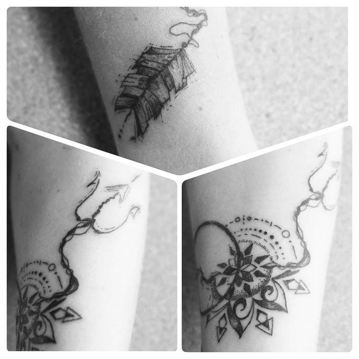 Tattoo by ZM Free Spirit Artist  http://www.manonzampieri.com  Mandala - Arrow - Lines - Travel  - TATTOO -  Get lost to find your way... #freespirit #creativemadness