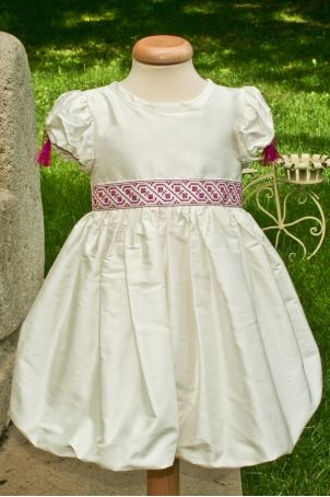 """Christening dress with Romanian traditional motifs, for a pretty little girl: """"Anna""""."""