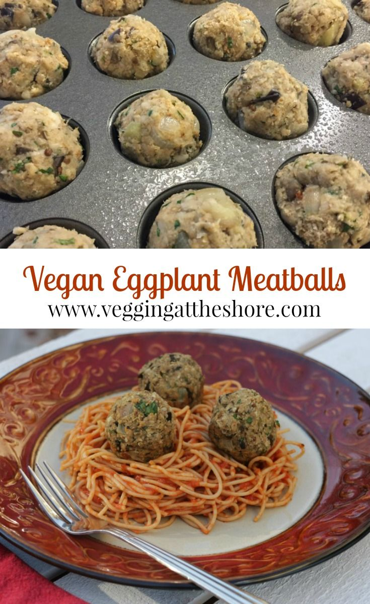 You won't miss the meat at all in these vegan eggplant meatballs.  Next time you are craving comfort food and want to keep it healthy, try these.