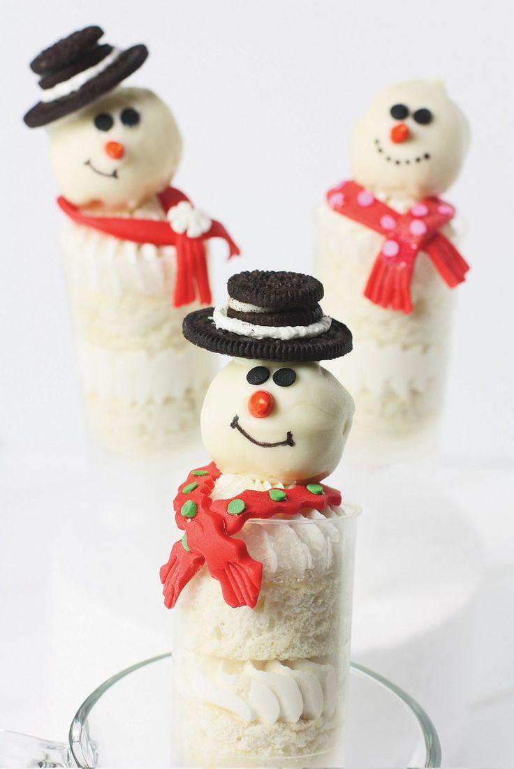 Snowman Push-Up Pops