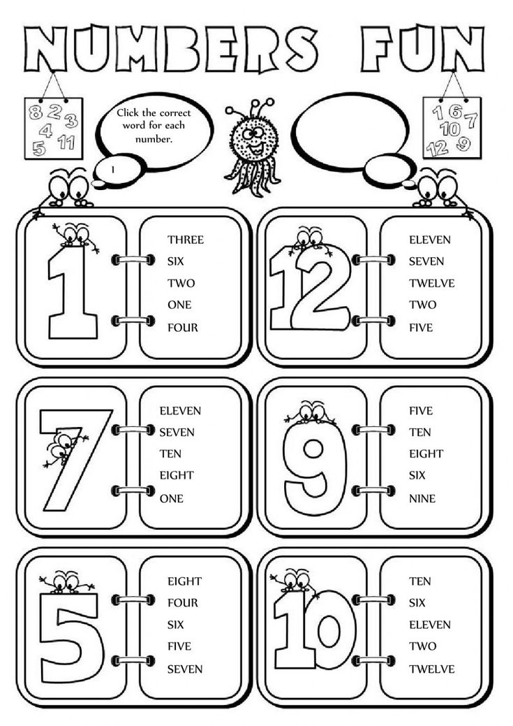 9 best The Numbers ESL English worksheets images on