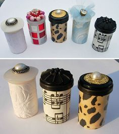 Upcycle Ideas with Pill Bottles | DIY Treasure Tube by DIY Ready at http://diyready.com/15-awesome-diy-uses-for-pill-bottles/