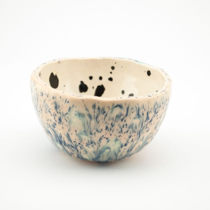 Image of Bowl | Pink Fluffy Times and Ink Blots