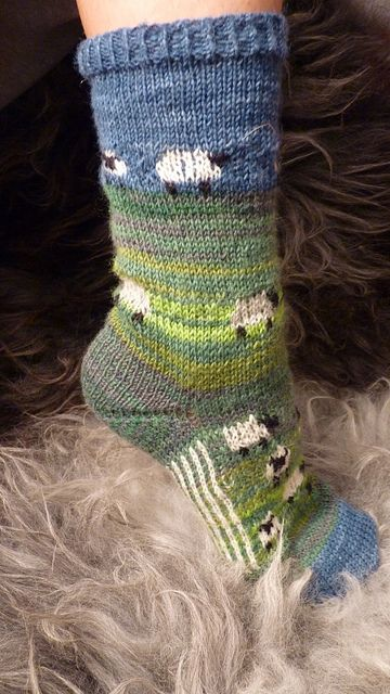 Sheep socks. I adore these, but could never master making them! have to figure out how to crochet them....