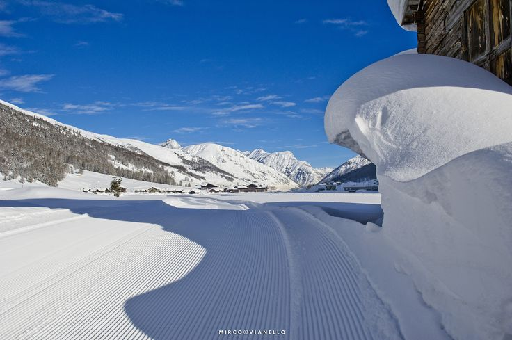 Da pont lonc - a glimpse of the beautiful trail for cross-country skiing in Livigno