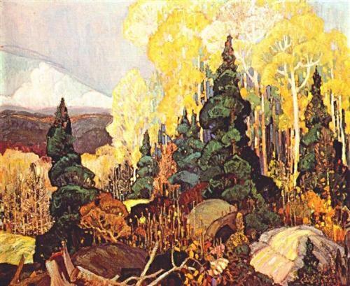 Autumn Hillside - Franklin Carmichael - 1920