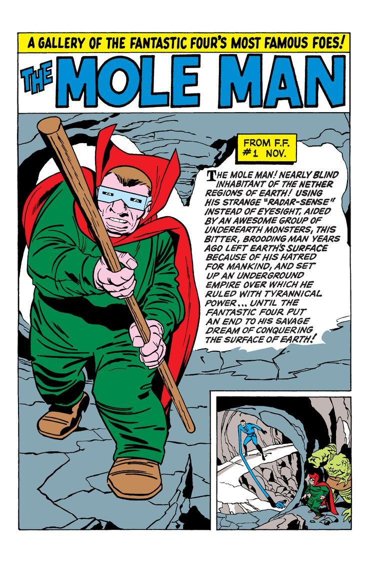 Fantastic 4 Cartoon Characters : Fantastic four annual the mole man marvel comics
