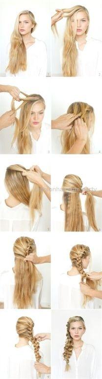 Eine sehr stilvolle und interessante leichte Frisuren für langes Haar Schritt f