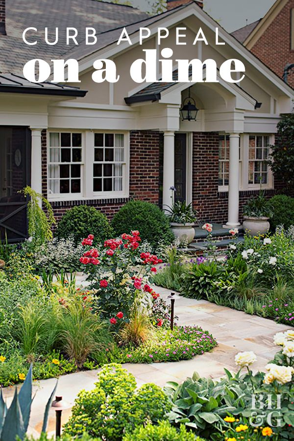 Boost Curb Appeal On A Budget With These 26 Easy Exterior Updates In 2020 Front Yard Landscaping Simple Curb Appeal Landscape Yard Landscaping Simple