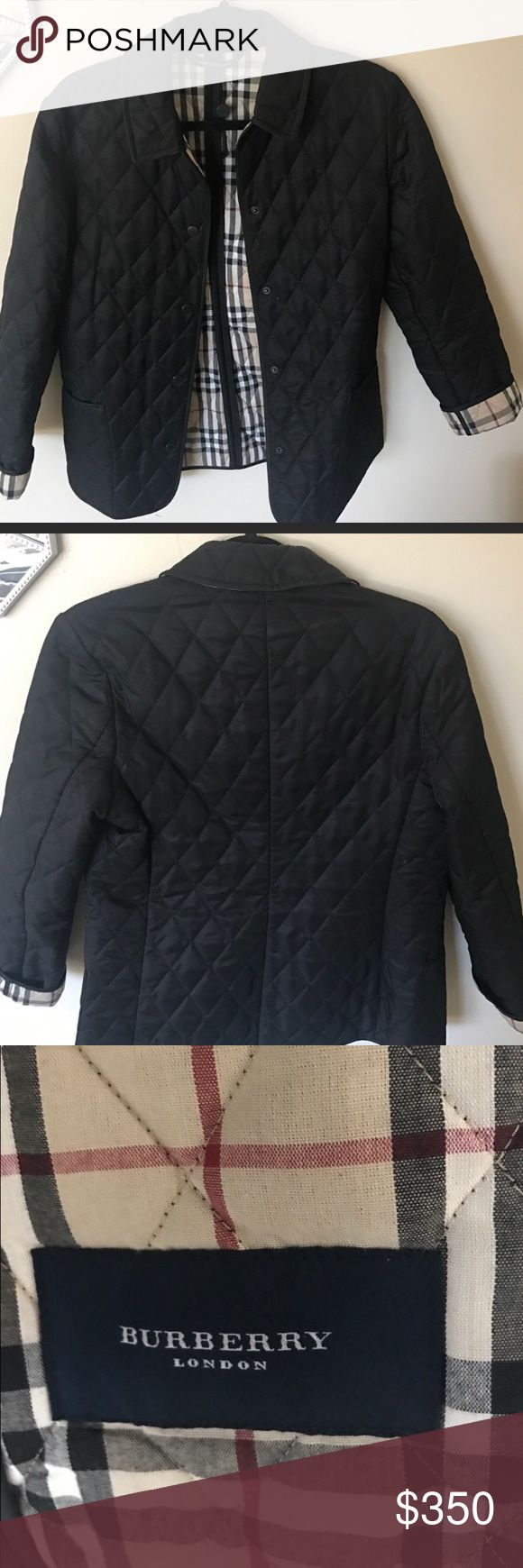Burberry Quilted Jacket Like new Burberry Jacket for spring/ fall! Burberry Jackets & Coats