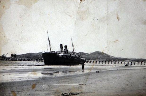 """The Wally"" beached at Main Beach"