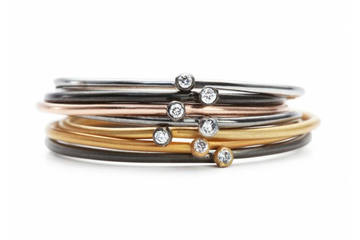 Stackable Diamond Rings - Apriati