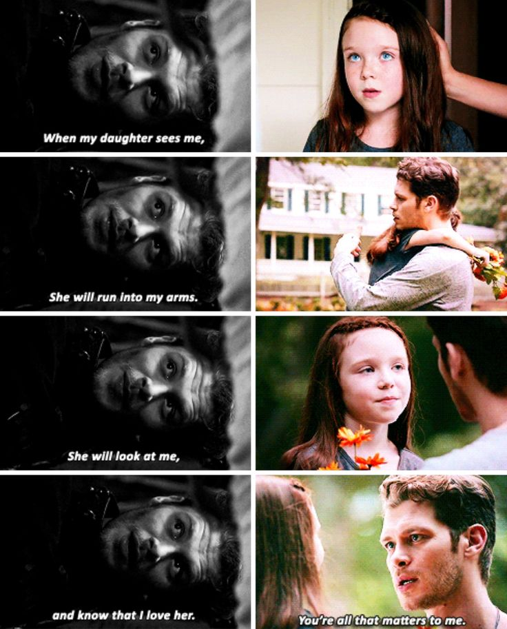 "#TheOriginals 4x02|4x03 - ""When I see my daughter, she will run into my arms. She will look at me and know that I love her"" - #KlausMikaelson #HopeMikaelson"