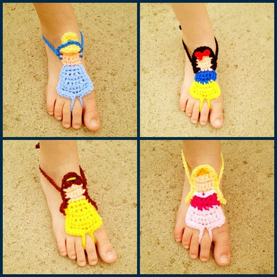 Crochet Disney Princess styled Barefoot by HarvesterProducts, $20.00
