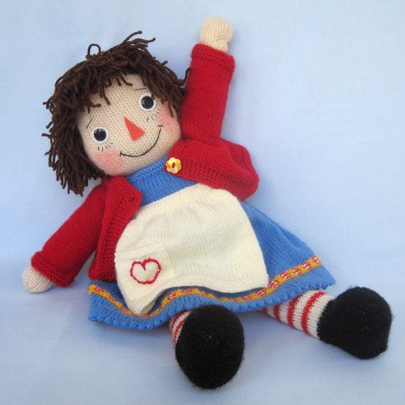 Merrily Ann  Raggedy Ann doll knitting pattern  by dollytime