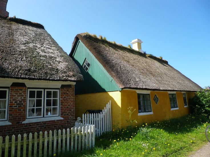 Old houses in Sønderho, Fanø. Photo by Tina Møller.